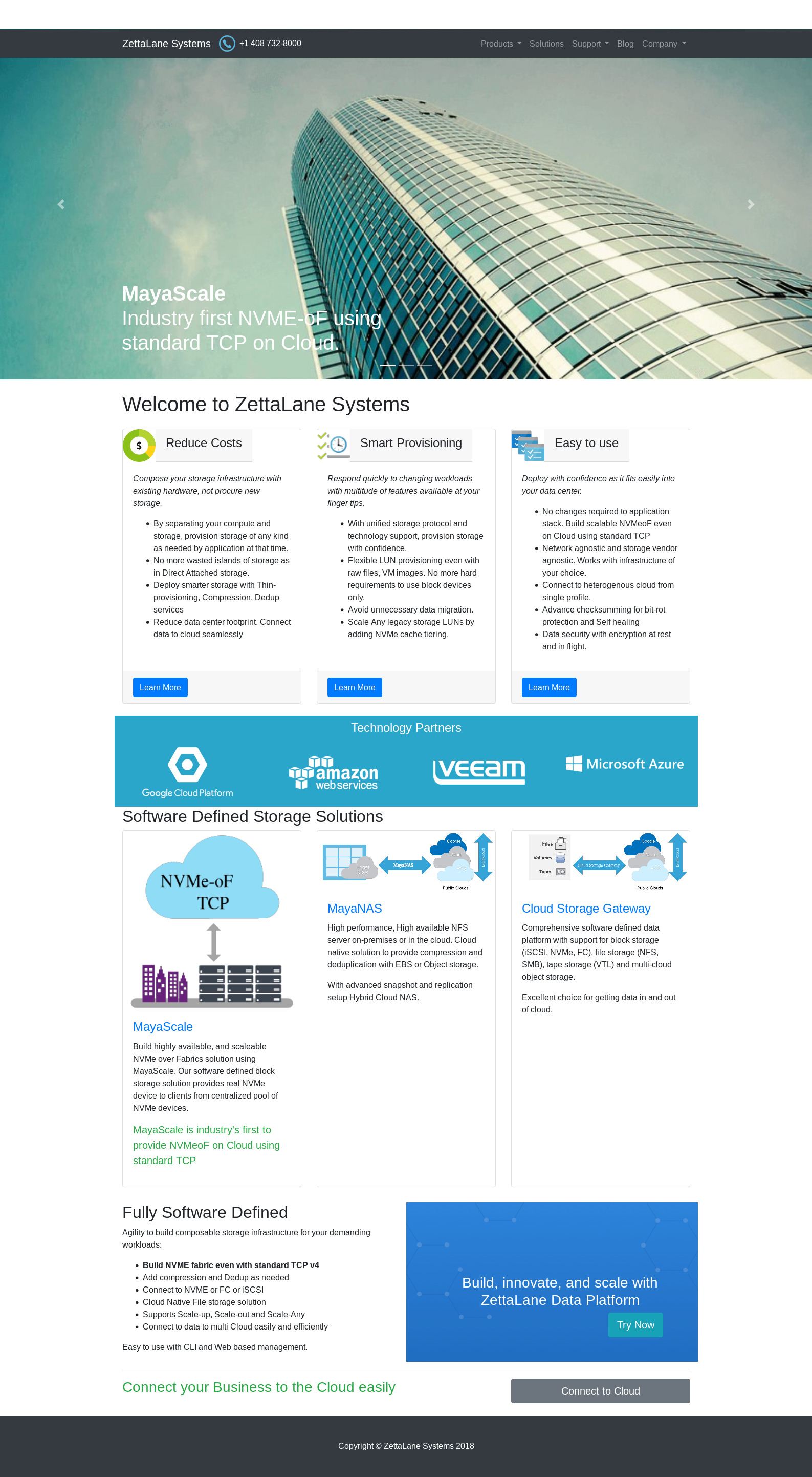 ZettaLane - Linux based Software Defined Storage Solutions